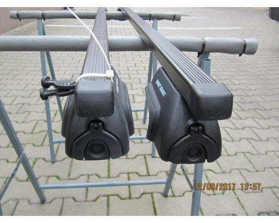 Použitý střešní nosič na podélníky Mont Blanc 133cm
