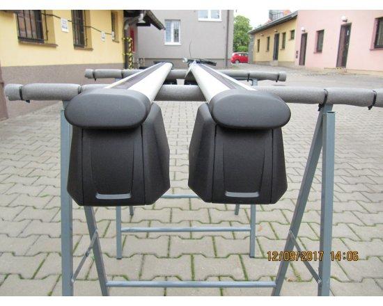 Použitý střešní nosič na int. podélníky alu Originál Audi Q5 2009-2018