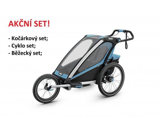 THULE CHARIOT SPORT 1  Blue 2020 + bike set + kočárkový set + běžecký set