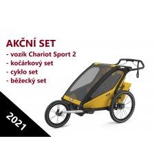 THULE CHARIOT SPORT 2 Spectra Yellow 2021 + bike set + kočárkový set + běžecký set