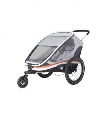 """Dětský vozík za kolo Hamax Outback """"2in1"""" - bílá/šedá/oranžová"""