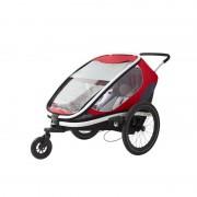 """Dětský vozík za kolo Hamax Outback """"2in1"""" - červená/šedá/černá"""