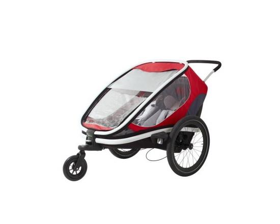 """Dětský vozík za kolo Hamax Outback """"2in1"""" - červená/šedá/černá - VYSTAVENÝ KUS NA PRODEJNĚ"""