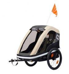 Dětský vozík za kolo Hamax Avenida 2in1 Cofee 2019