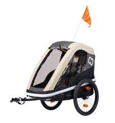 Dětský vozík za kolo Hamax Avenida One Cofee 2019