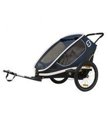 """Dětský vozík za kolo Hamax Outback Navy Blue 2019 """"2in1"""""""