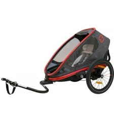 Dětský vozík za kolo Hamax Outback one - šedá/červená - VYSTAVENÝ KUS NA PRODEJNĚ
