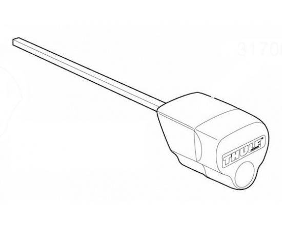 Thule 31700 - utahovací koncovka čtyřhranných tyčí