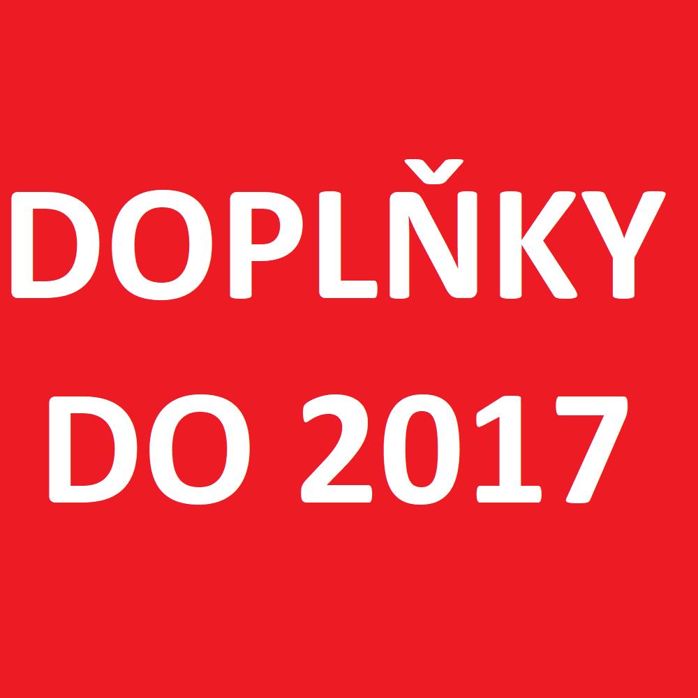 Doplňky do roku 2017